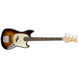 Fender American Performer Mustang Bass 3-Colour Sunburst Front