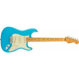 Fender American Professional II Stratocaster Miami Blue Maple Front