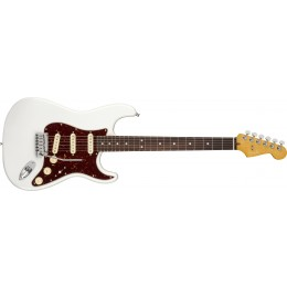 Fender American Ultra Stratocaster Arctic Pearl Rosewood Front