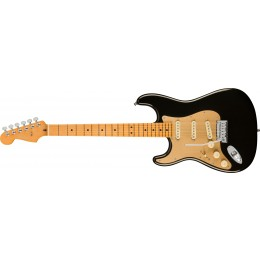Fender American Ultra Stratocaster Left-Hand Maple Fingerboard Texas Tea Front