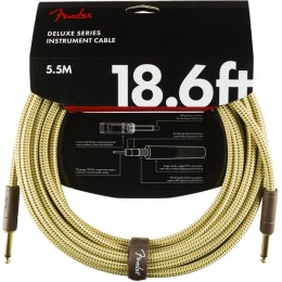 Fender Deluxe Series Instrument Cable 18.6 Foot Tweed Front