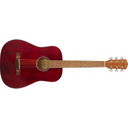 Fender FA-15 Three Quarter Scale Steel with Gig Bag Red Front