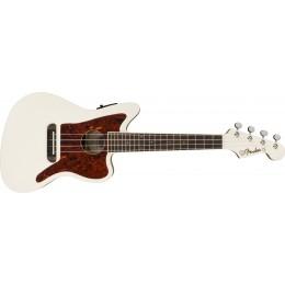 Fender Fullerton Jazzmaster Ukulele Olympic White Front