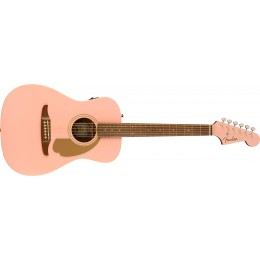 Fender Limited Edition Malibu Player Shell Pink Front