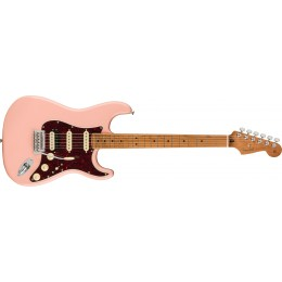Fender Limited Edition Player Stratocaster HSS Shell Pink Roasted Maple Front
