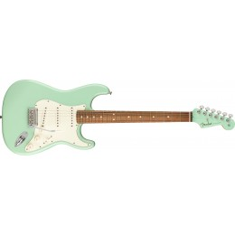 Fender Limited Edition Player Stratocaster Surf Green Matching Headstock Front