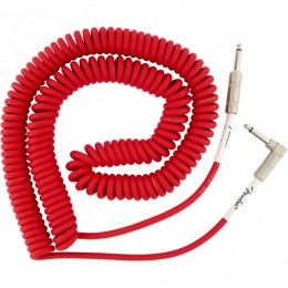 Fender Original Series Coil Cable Straight-Angle 30 Foot Fiesta Red Front
