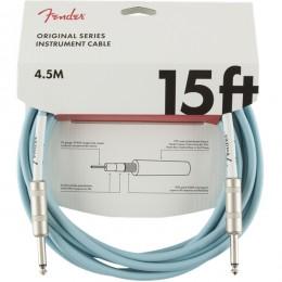 Fender Original Series Instrument Cable 15 Foot Daphne Blue Front
