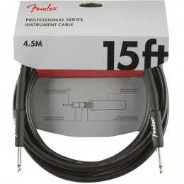 Fender Professional Series Instrument Cable Straight Straight 15 Foot Black Front