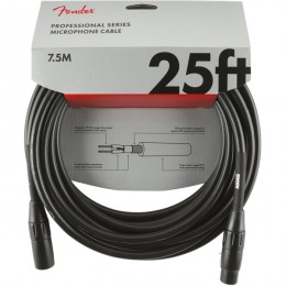 Fender Professional Series Microphone Cable 25 Foot Black Front
