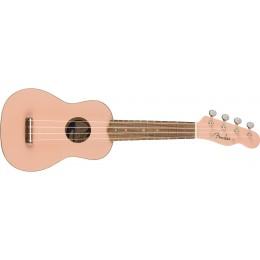 Fender Venice Soprano Ukulele Shell Pink Front