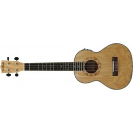 Freshman UKASHTE Left Handed Ash Tenor Ukulele with EQ and Tuner Body