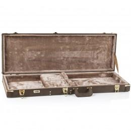 Gator GW-ELECT-VIN Electric Guitar Deluxe Wood Hard Case Vintage Brown Case Open