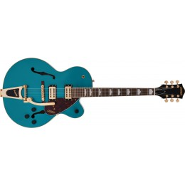 Gretsch G2410TG Streamliner Hollow Body Single-Cut with Bigsby and Gold Hardware Laurel Fingerboard Ocean Turquoise Front