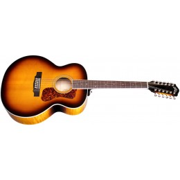 Guild F-2512E Deluxe Westerly 12-String Electro-Acoustic Antique Sunburst Front