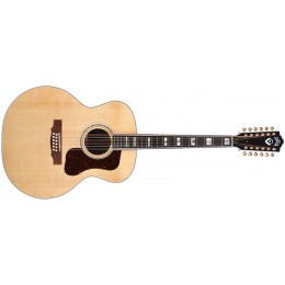 Guild F-512 Rosewood Natural Front