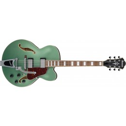Ibanez-AFS75T-MGF-Artcore-Metallic-Green-Flat-2019-Front