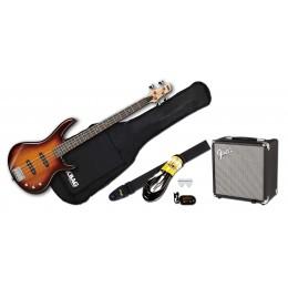 Ibanez GSR180 Brown Sunburst Fender Rumble 15 Package