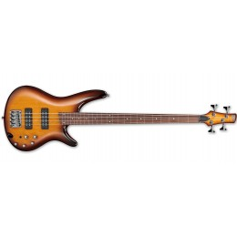 Ibanez SR370EF Fretless Bass Guitar Brown Burst Front