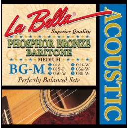 La Bella BG-M Baritone Guitar Strings Phosphor Bronze Medium