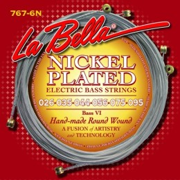 La Bella 767-6N Bass VI Nickel Plated Round Wound 26-95