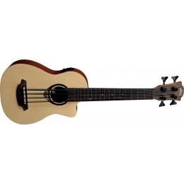 LAG TKB150CE Electro-Acoustic Bass Ukulele Front