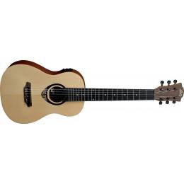 LAG TKT150E Electro-Acoustic Guitalele 6-String Tenor Ukulele Front