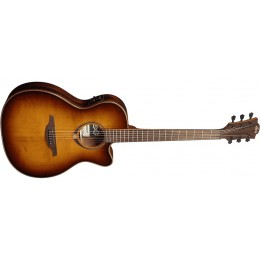 LAG T118ASCE-BRS Tramontane 118 Slim Electro-Acoustic Guitar Front