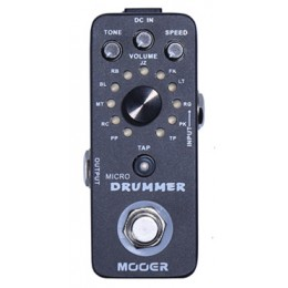 MOOER Micro Drummer MDM1 Pedal Drum Machine Top