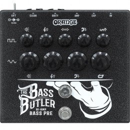 Orange Bass Butler Bi-amp bass preamp pedal Front