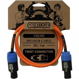 Orange Crush 3ft Speaker Cable, Twist Connector to Twist Connector (Speakon)