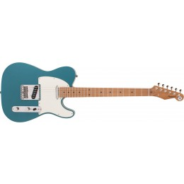 Reverend Pete Anderson Eastsider T Satin Deep Sea Blue, Roasted Maple Front