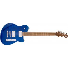 Reverend Charger RA Transparent Blue Flame Maple Front