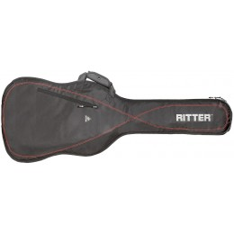 Ritter Performance RGP2-B Bass Gig Bag Black Racing Red