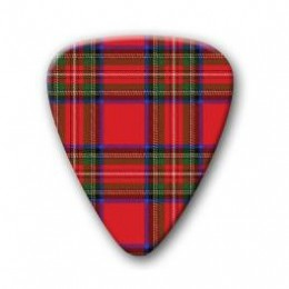 Scottish Red Tartan Plectrum Guitar Pick