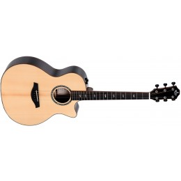 Sigma GECE-3+ Macassar Ebony Electro-Acoustic Guitar Front