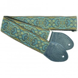 Souldier Custom Guitar Strap Arabesque Blue