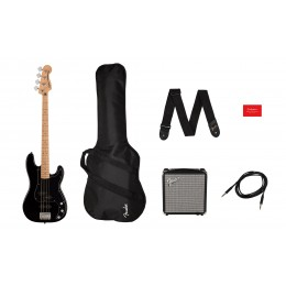Squier Affinity PJ Bass Pack Black Main