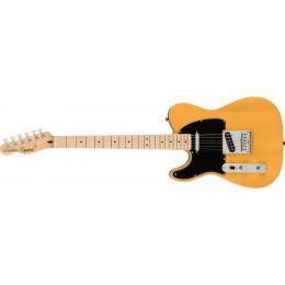 Squier Affinity Series Telecaster Left-Handed Maple Fingerboard Black Pickguard Butterscotch Blonde Front