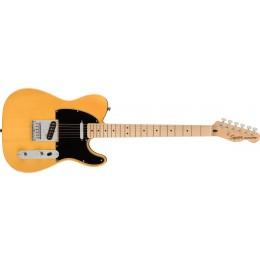 Squier Affinity Series Telecaster Maple Fingerboard Black Pickguard Butterscotch Blonde Front