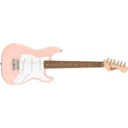 Squier Mini Stratocaster Kids Guitar Shell Pink Front
