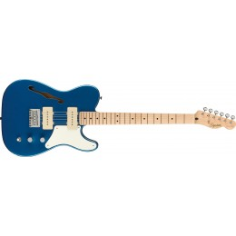 Squier Paranormal Cabronita Telecaster Thinline Lake Placid Blue Front