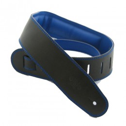 DSL GEG25-15-8 Leather Strap Black with Blue Backing 2.5 Inches