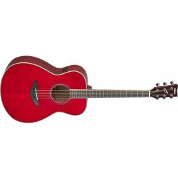 Yamaha FS-TA TransAcoustic Guitar Ruby Red Front