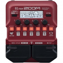 Zoom B1 Four Bass Multi-Effects Pedal Front