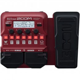 Zoom B1X Four Bass Multi-Effects Pedal With Expression Front