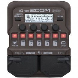 Zoom A1 Four Acoustic Guitar Multi-Effects Pedal Front