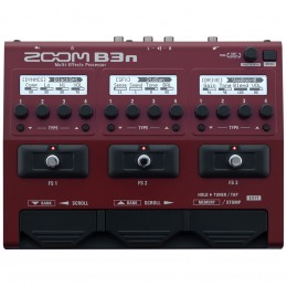 Zoom B3n Bass Multi Effects Pedal Top