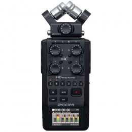 Zoom H6 Black Portable Recorder Front