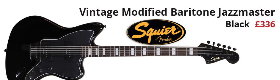 Squier Vintage Modified Baritone Jazzmaster Black